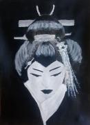 tableau personnages geisha japon femme japonaise : Geisha