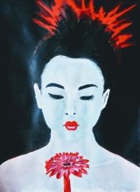 Geisha à la fleur