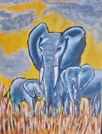 elephant et ses petits