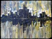 tableau villes ville new york reflet eau : CITY