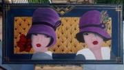 tableau personnages art deco femme annee folle chapeau : les mignonnes