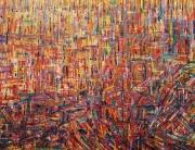 tableau abstrait orange abstrait : Création orange