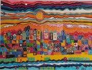 dessin villes ville orange : La ville imaginaire