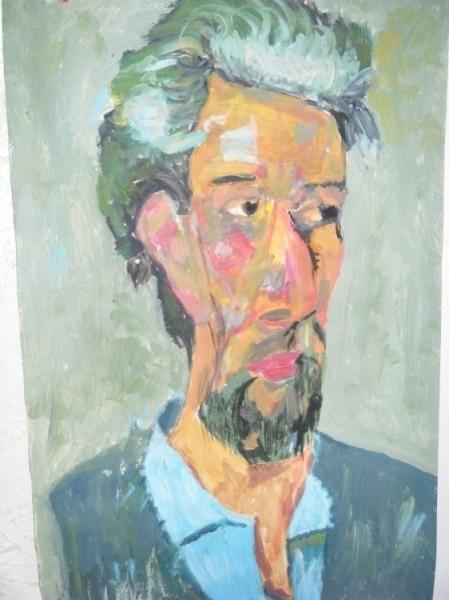 DESSIN portrait médecin couleurs dessin Personnages  - Le médecin de cézanne