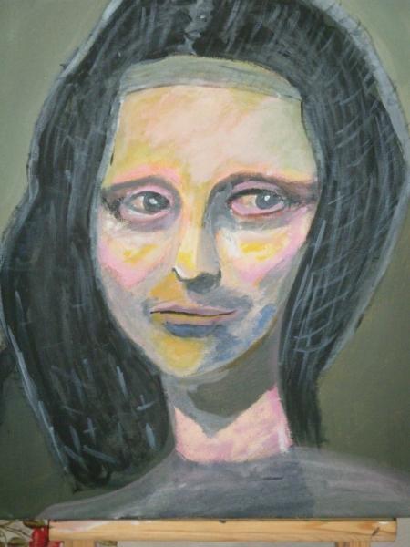 TABLEAU PEINTURE Italie femme portrait joconde Personnages Acrylique  - La joconde oubliée