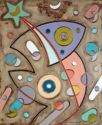 tableau abstrait art peinture art abstrait symbolisme : Il rettile
