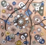 tableau abstrait art peinture art abstrait symbolisme : Girandola magica
