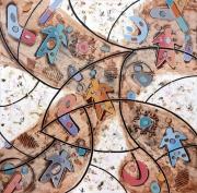 tableau abstrait art peinture art abstrait symbolisme : Aborigeni
