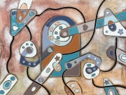 tableau abstrait art peinture art abstrait symbolisme : La porta dei desideri