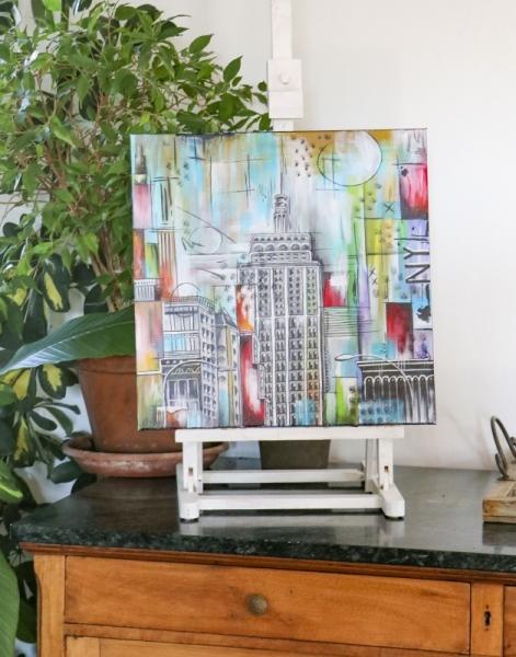 TABLEAU PEINTURE ville new york Villes Acrylique  - New York
