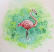 tableau animaux : Famant rose