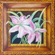 tableau fleurs : Fleur encadrée