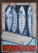 tableau animaux : Sardines en boite