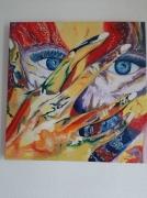 tableau personnages masque femme couleur force : Bas les masques