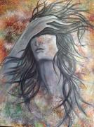 tableau personnages femme couleurs noir et blanc mouvement : Nébuleuse
