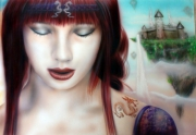 tableau personnages moulins temps peinture portrait : Les Moulins du temps