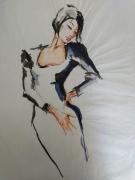 dessin personnages illustration dessin godard encre de chine : J'tai dans la peau