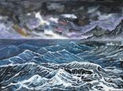 tableau paysages mer paysage orage vague : ORAGE EN MER