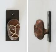 sculpture : Tête porte manteau 213