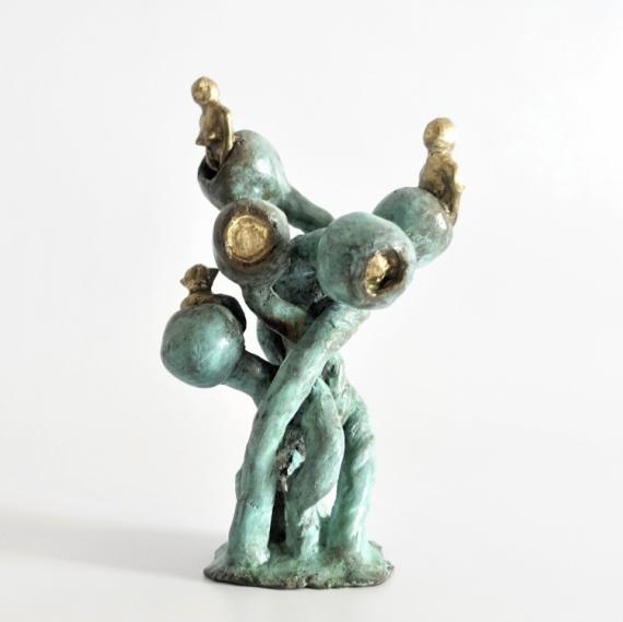 SCULPTURE sculpture Bronze  - Femmes Fleurs