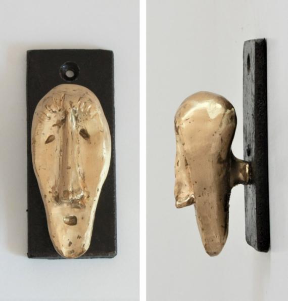 SCULPTURE Bronze  - Tête porte manteau 216