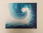 tableau marine vague abstrait marin evasion : Vague etoilée