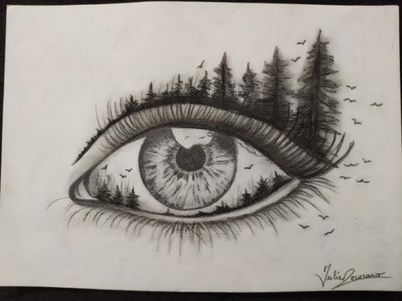 DESSIN  - Oeil Nature'elle