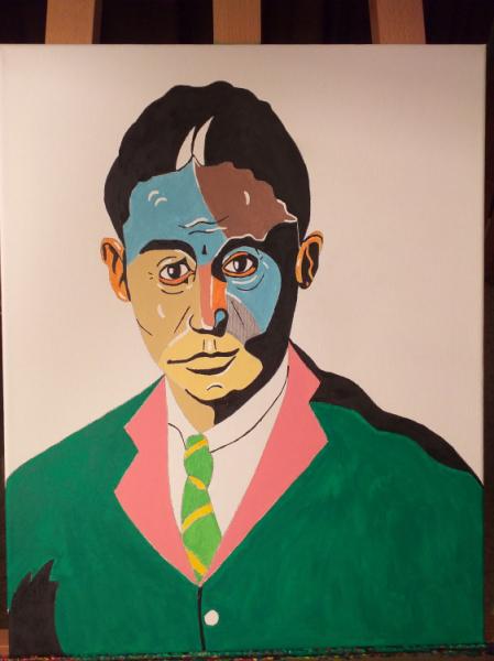 TABLEAU PEINTURE Personnages Acrylique  - Franz Kafka