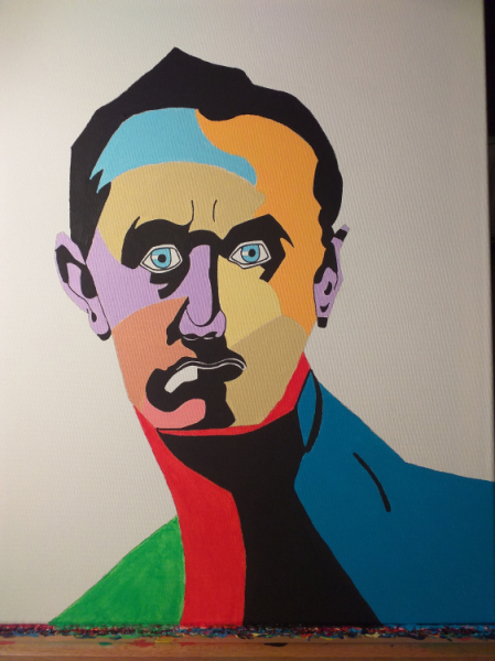 TABLEAU PEINTURE Personnages Acrylique  - Angry