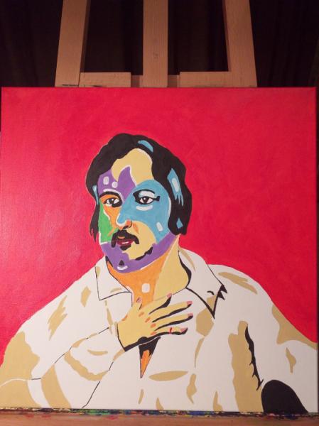 TABLEAU PEINTURE Personnages Acrylique  - Honoré de Balzac