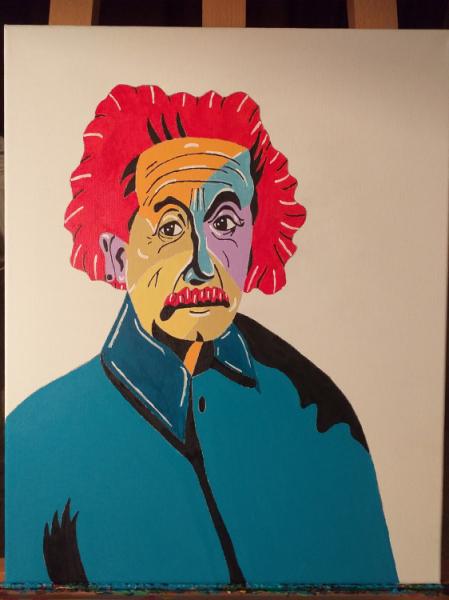 TABLEAU PEINTURE Personnages Acrylique  - Albert Einstein