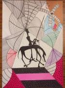 dessin personnages : Don Quichotte face à son destin