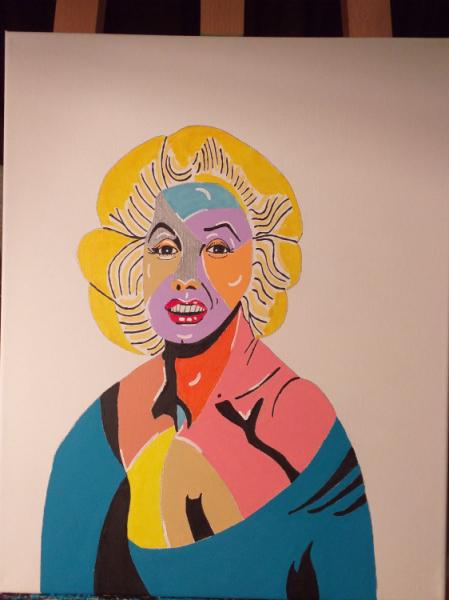 TABLEAU PEINTURE Personnages Acrylique  - Marilyn