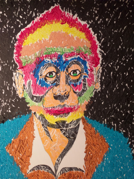 TABLEAU PEINTURE Personnages Acrylique  - Stranger in the night