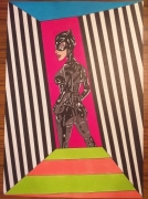 dessin personnages : Catwoman in jail