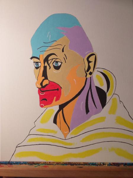 TABLEAU PEINTURE Personnages Acrylique  - The Monk