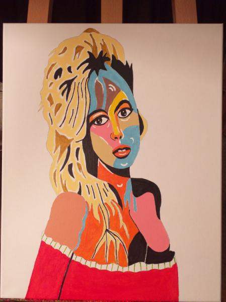 TABLEAU PEINTURE Personnages Acrylique  - Brigitte Bardot