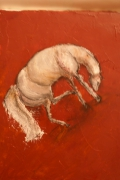 tableau animaux cheval rouge figuratif : Cheval rouge