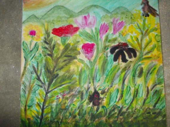 TABLEAU PEINTURE Fleurs Acrylique  - vive le printemps
