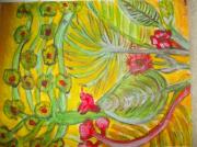 tableau fleurs : verdure
