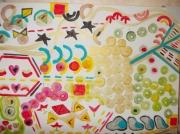 tableau abstrait formes : formes
