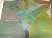 tableau abstrait araignee abstrait : toile d'araignée