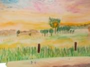 tableau paysages campagne champ ciel : lumières du ciel