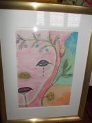 tableau abstrait : double visage