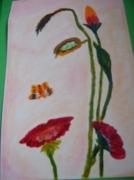 dessin personnages : femme fleur