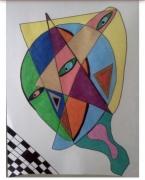 dessin abstrait : Dédoublement