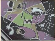 dessin abstrait abstrait : Les larmes de pégasus