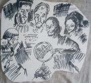 dessin abstrait personnages : Magellan