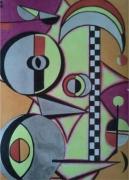 dessin abstrait : Le joker joue à la roue