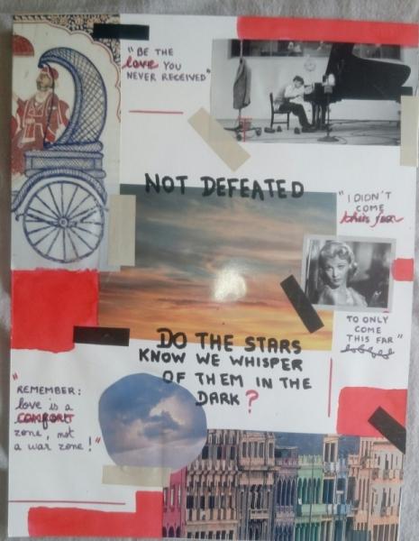 AUTRES Collage  - Pas vaincu